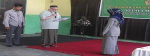 Pelantikan Kepala Sekolah Mts Mamboro Oleh Ketua Umum Alkhairaat