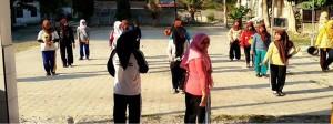 Senam Pagi SMK Ponpes Putri Alkhairaat